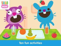 Sago Mini Friends - a play app with 10 simple activities. Appysmarts score: 84/100 http://www.appysmarts.com/application/sago-mini-friends,id_104070.php