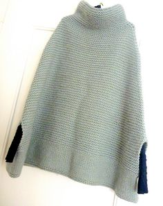 Ravelry: Project Gallery for 65-15 Poncho with hood in Puddel pattern by DROPS design- modified by sonihorm - free pattern