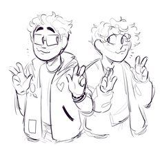 Michael Mell and Jeremy Heere Cute Art Styles, Cartoon Art Styles, Drawing Reference Poses, Art Reference, Drawing Sketches, Art Drawings, Be More Chill Musical, Michael Mell, Character Art
