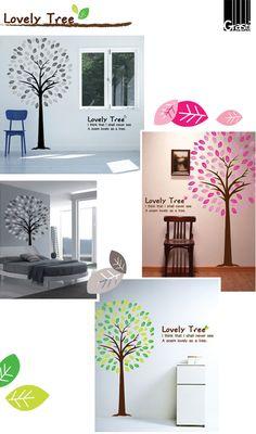 【楽天市場】【ウォールステッカー】Lovely Tree:ウォールステッカー