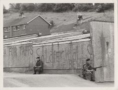 Members of the Royal Welch Fusiliers on patrol in Strabane, Northern Ireland, 1973