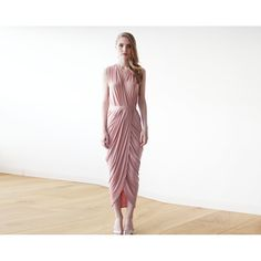 Blushfashion-Pink sleeveless tulip wrap maxi dress-Women - Apparel - Dresses - Maxi-Très Fancy - Duty Free Canada, Worldwide shipping