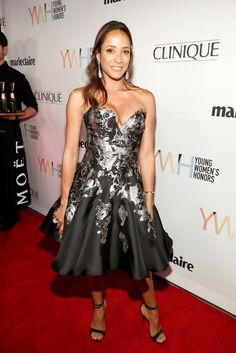 Dania Ramirez Strapless Dress - Dania Ramirez got all dolled up in a strapless fit-and-flare dress for the Marie Claire Young Women's Honors. Color Patterns, Print Patterns, Dania Ramirez, Strapless Dress Formal, Formal Dresses, Celebs, Celebrities, Fit And Flare, Fashion Looks
