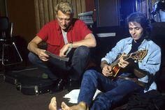 Johnny Hallyday et Jean-Jacques Goldman