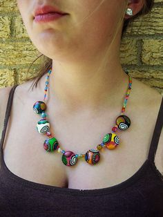 round bead necklace by Lauren Tilma on Etsy $35