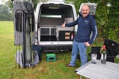 Ford Transit Connect Camper Conversion: Front to Back pull out flexible bed slats. More room when not in use. Ford Transit Connect Camper, Transit Camper, Van Conversion Kits, Camper Conversion, Peter Wood, Minivan Camping, Van Dwelling, Mobile Living, Cargo Van