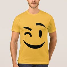 winking at you emoji Adult Tee by emoji_pillows on Zazzle @zazzle #zazzle #smily #face #cartoon #yellow #black #fun #funny #cute #smile #smiling #sweet #cool #pop #culture #wink #eye #brow #eyebrow #buy #shop #sale #shopping #look #blog #blogging #awesome #awesomeness #tee #tshirt #shirt #clothes #apparel #fashion #style
