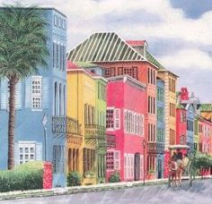 Charleston, SC in South Carolina, This is called Rainbow Row.  A nice city to visit lots of southern charm.