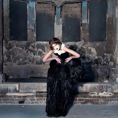 Great photo shoot..love the decayed backdrop
