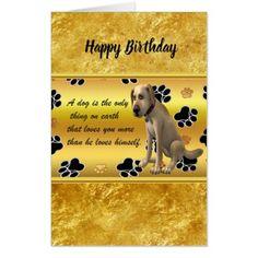 Adorable dog sitting with a cute fun quote card - birthday diy gift present custom ideas