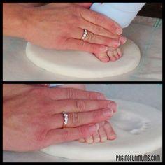 DIY Baby Keepsake - using homemade clay!