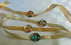 Handmade rakhis. Painted. Marbles