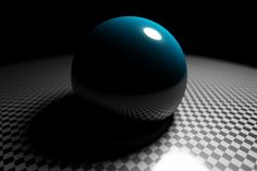#Raytraced image of #glossy reflections with an area light and then rendered with depth of field