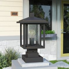 online shopping for Hungate Outdoor Pier Mount Light Bloomsbury Market from top store. See new offer for Hungate Outdoor Pier Mount Light Bloomsbury Market Outdoor Pillar Lights, Outdoor Lighting, Gate Lights, Outdoor Lamp Posts, Lantern Post, Outdoor Doors, Decks And Porches, Exterior Paint, Lanterns