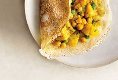 Rava Dosas with Potato and Chickpea Masala from Leite's Culinaria
