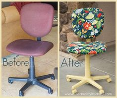 From business and boring to fearless and fun! A DIY office chair makeover with some tips and instructions.