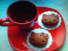 Hello Kitty Hello Kitty, Cookies, Desserts, Food, Crack Crackers, Tailgate Desserts, Biscuits, Meal, Cookie Recipes