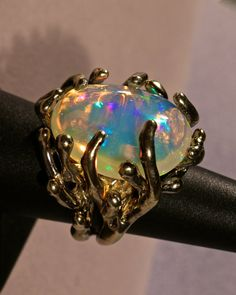 GIANT Opal ring  Spectacular Natural Solid Ethiopian von AmyKJewels