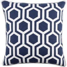 Artistic Weavers Inga Thea 18 Inch Pillow Cover And Poly Insert Modern Throw Pillows, Throw Pillow Sets, Outdoor Throw Pillows, Decorative Throw Pillows, Accent Pillows, Trellis Pattern, Cotton Pillow, Navy And White, White Light