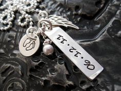 Hand Stamped Mommy Necklace  Personalized Jewelry  by BragAboutIt, $52.00