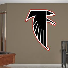 Atlanta Falcons Classic Logo REAL.BIG. Fathead Wall Graphic | Atlanta Falcons Wall Decal | Sports Decor | Football Bedroom/Man Cave/Nursery
