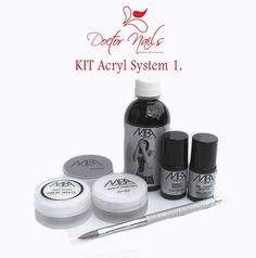 Kit Acryl System 1.  Anmeldung mit Facebook und erhalten Gutschein für Rabatt 5% Kit, Beauty Shop, Facebook, Nails, Shopping, Gift Cards, Finger Nails, Ongles, Nail