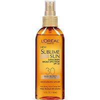 L'Oreal - Sublime Sun Sheer Protect Sunscreen Oil #ultabeauty ....wonderful product....only one that doesn't bother my sensitive skin!!