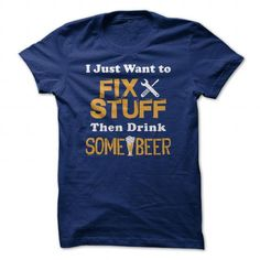 Fis stuff then drink Beer T Shirts, Hoodie. Shopping Online Now ==►…