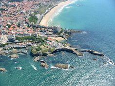Biarritz, vue du ciel