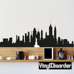 NewYork Skyline Vinyl Wall Decal or Car Sticker SS043