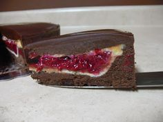 Love Pie. Love Cake. PIECAKEN.: Raspberry Pie Nestled in a Flourless Dark Chocolate Cake (Recipe)