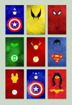 Minimal superhero posters by thelincdesign