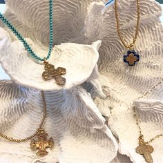 Easter season is upon us! This beautiful line of new jewelry from designer Andrea Barnett will be a special gift to celebrate the season. Exquisite handmade necklaces all tell a story representing the life & story of Jesus. Shop our website for these special pieces. #tfssi