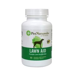 Lawn Aid is a formula designed to control nitrogen waste products in your dog's urine and to help prevent unsightly discoloration of your lawn. This combination of Cranberry, Yucca, DL-Methionine and Brewers Yeast helps to keep grass green all season long. Cranberry Extract also supports urinary tract health.