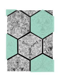 Annachich Jewelry Architectural Inspiration // 1907 Hexagon Tiles in the San Francisco Phelan Building