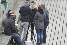 Zayn shooting a video in Clevedon! :) 3.24.14
