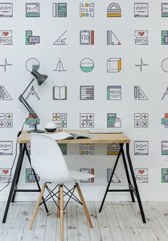 For all the budding mathematicians. Our Back to School collection features this smart yet playful wallpaper design. It's perfect creating an inspirational yet beautiful space to study.