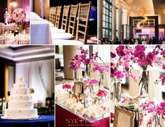 Nyk + Cali Wedding Photographers | Nashville, TN | The Omni Hotel | South Asian Wedding | Pakistani | Details | Reception | Cake | Jay Qualls | Pink Orchids | Place Cards | Cocktail Hour | Angela Proffitt | Village of Flowers |