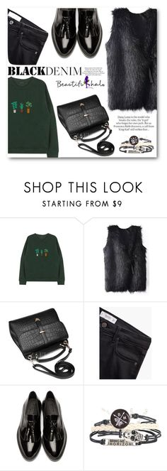 """""""beautifulhalo.com 7"""" by angelstar92 ❤ liked on Polyvore featuring MANGO, Burberry, ASOS, women's clothing, women, female, woman, misses, juniors and blackdenim"""