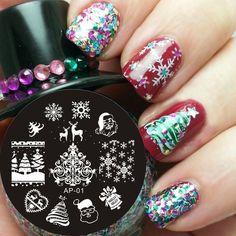 Pandox Christmas XMAS Theme Nail Art Stamp Template Image Plate AP01 Nail Stamping Plates Set