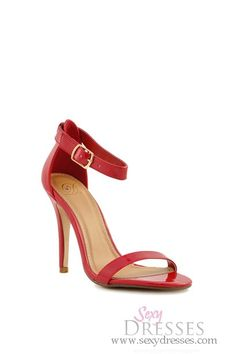 Red Patent 'Chacha' Ankle Strap High Heel -sexy dresses.com