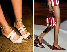 Love the shoes especially the ones on the left! Spring 2013's Most Wearable Fashion Trends: Fashion: glamour.com