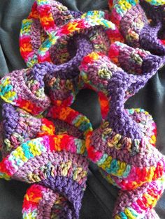 Free Crochet Pattern For Potato Chip Scarf : Potato Chip scarf and loom knit hat for the Street ...