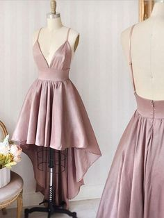 Homecoming dresses short - pink sleeveless vneck short school event dress,backless satin spaghettistraps homecoming dress from Sweet Baby – Homecoming dresses short Pink Party Dresses, Hoco Dresses, Event Dresses, Pretty Dresses, Sexy Dresses, Pink Dress, Wedding Dresses, Awesome Dresses, Formal Dresses