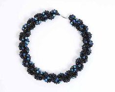 How to bead a crystal necklace. Spiral Necklace - Step 7