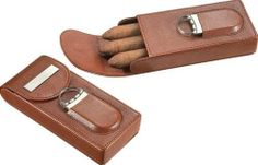 Visol VCASE706 Caldwell Brown Leather Cigar Case with Cigar Cutter by Visol. $29.25. With its glazed finish, don't be fooled by the Caldwell. This cool case can do more than just store your cigars once you remove the cigar cutter located on the front of this handsome cigar case. The stainless steel and acrylic cigar cutter features sharp dual blades that are capable of cutting up to a 54 ring gauge cigar with not problems. On the exterior, rugged brown leather encases this m...