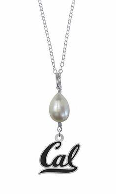 California Golden Bears Pearl Drop Necklace High Quality California Berkeley Jewelry #california #berkeley #jewelry #collegejewelry #necklace #pearl