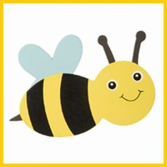 I like the shape of the bee for the kids to cut out