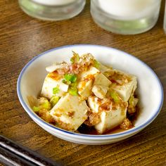 Tofu recipes: Sweet and Spicy Silken Tofu with soy and bonito flakes. pickledplum.com food recipes