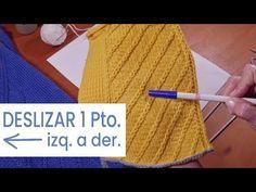 Knitting Stitches, Knit Crochet, Sewing, Tips, Youtube, Flan, Knitting Patterns, Gifs, Knits